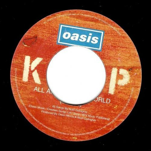 OASIS All Around The World Vinyl Record 7 Inch Creation 1998..